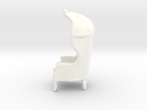 "Armchair Roof 1/4"" Scaled in White Processed Versatile Plastic: 1:48 - O"