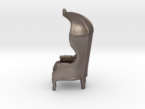 "Armchair Roof 1/4"" Scaled in Polished Bronzed Silver Steel: 1:48 - O"