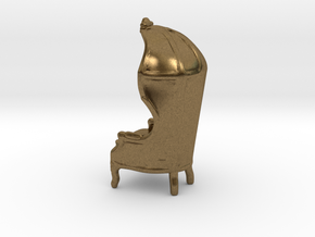 """Armchair-Roof 1/2"""" Scaled in Natural Bronze: 1:24"""