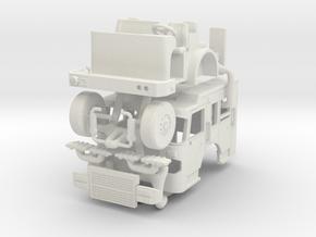 1/64 Spartan Gladiator Split Roof Cab in White Natural Versatile Plastic