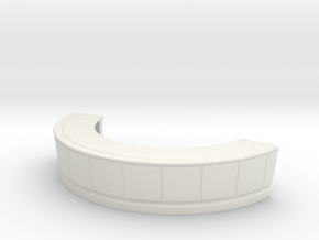 Reception Desk 1/76 in White Natural Versatile Plastic