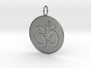 Om Medal in Natural Silver