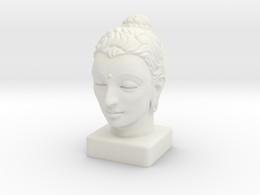 Gandhara Buddha 15 inches in White Natural Versatile Plastic