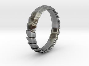 Centipede Armor Ring in Antique Silver: 8 / 56.75