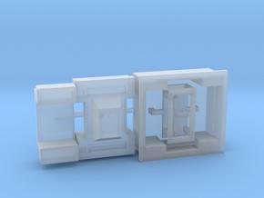 Moebius EVA Pod: Red Box, Door Handle in Smooth Fine Detail Plastic