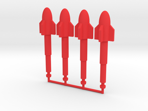 Conning Station Ray Wave Missiles in Red Processed Versatile Plastic