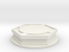 Outpost - VTOL Pad Module Top in White Natural Versatile Plastic