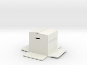 Minibox in White Natural Versatile Plastic