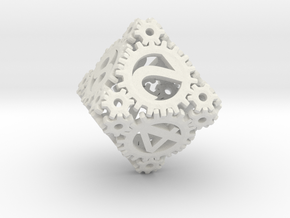 Static Gear (D8) in White Natural Versatile Plastic