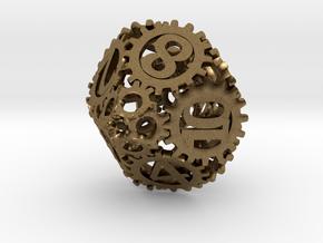 Static Gear Die (D10) in Natural Bronze