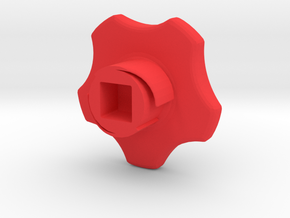 Mikron Door Knob Type A,  in Red Processed Versatile Plastic