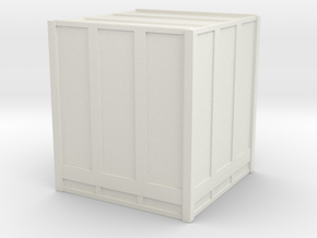 Large Shipping Crate 1/87 in White Natural Versatile Plastic