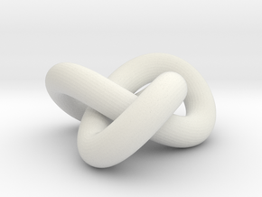 Torus knot in White Natural Versatile Plastic