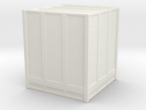 Large Shipping Crate 1/120 in White Natural Versatile Plastic
