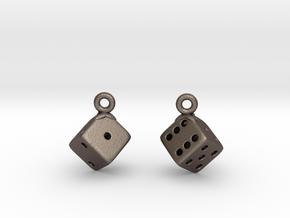 D6 Earrings in Stainless Steel