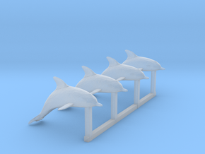 HO Scale Dolphins in Smooth Fine Detail Plastic