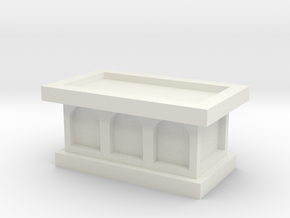 Church Altar 1/56 in White Natural Versatile Plastic