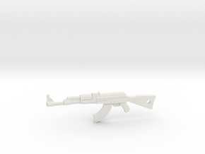 AK-47 Pendant in White Strong & Flexible