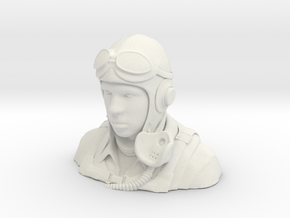 Warbird Pilot Figure 1/4 in White Strong & Flexible