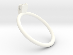 Cherry Keeper Ring - 80mm Flat +40° in White Processed Versatile Plastic