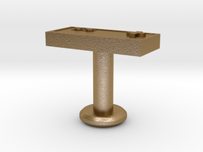 Cufflink in Polished Gold Steel