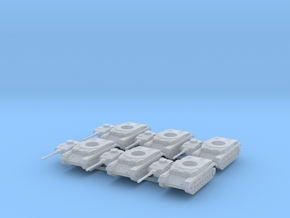 6mm Panzer IV F2 (6) in Smooth Fine Detail Plastic