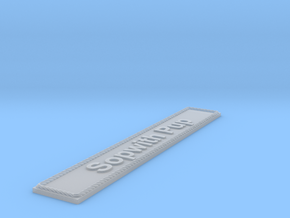 Nameplate Sopwith Pup in Smoothest Fine Detail Plastic