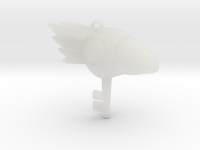 Bird Key Pendant in Smooth Fine Detail Plastic