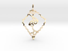 Leaf kiss in 14K Yellow Gold