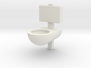 Prison Toilet 1/24 in White Natural Versatile Plastic