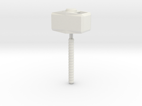 Mjolnir The Hammer in White Natural Versatile Plastic