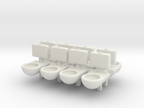 Prison Toilet (x8) 1/120 in White Natural Versatile Plastic