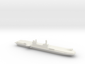 1/2400 Scale Italian aircraft carrier Cavour in White Natural Versatile Plastic