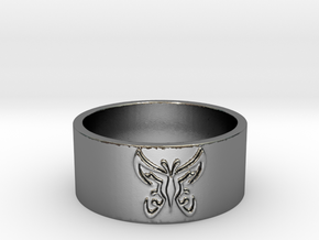 Butterfly V1 Ring Size 7 in Polished Silver