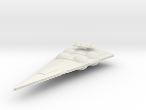 Micromachine Star Wars Interdictor class in White Natural Versatile Plastic