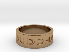 13 Buddha Ring Size 7 in Polished Brass