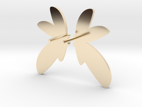 Abstract Fan Earrings V DESIGN LAB in 14k Gold Plated Brass