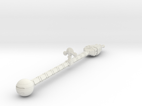 2001 Discovery Spacecraft - 10 inch in White Natural Versatile Plastic