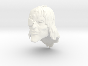Admiral Scurvy Head in White Processed Versatile Plastic