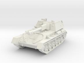 SU-76 M (early) 1/100 in White Natural Versatile Plastic