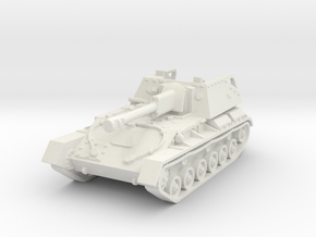 SU-76 M (early) 1/72 in White Natural Versatile Plastic