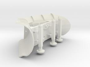 Snowplow 1/32. Fits most models in White Natural Versatile Plastic