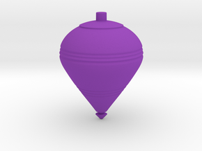 Spinning Top B in Purple Processed Versatile Plastic