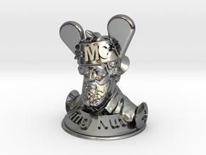 Wacky Wing Nut  in Polished Silver
