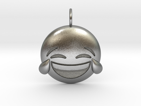 Laughing Emoji in Natural Silver