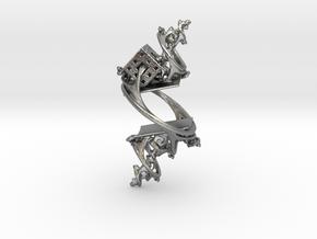 Cosmographic Overdose - Finger Ornament - 20mm in Natural Silver