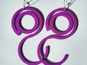 EarringTwenty in Purple Processed Versatile Plastic