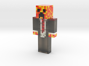 DoTheFlip open suit red shoulder | Minecraft toy in Glossy Full Color Sandstone