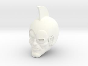 Darkney Head in White Processed Versatile Plastic