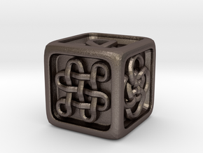 Celtic Die in Polished Bronzed Silver Steel